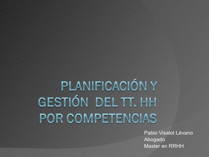 Planificacion y Gestion por Compentencias