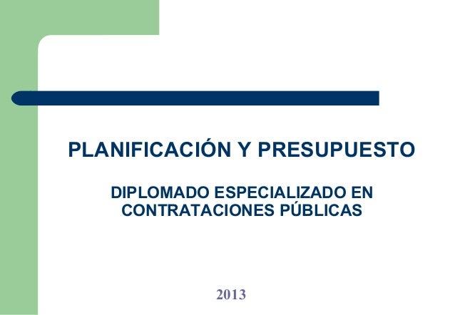 Planificacion y presupuesto