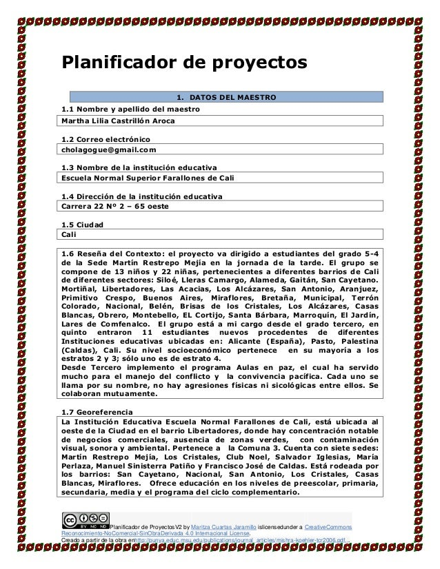 Planificador de ProyectosV2 by Maritza Cuartas Jaramillo islicensedunder a CreativeCommons Reconocimiento-NoComercial-SinO...
