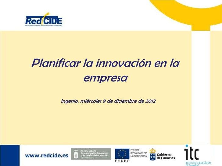 Planificar la innovación en la empresa