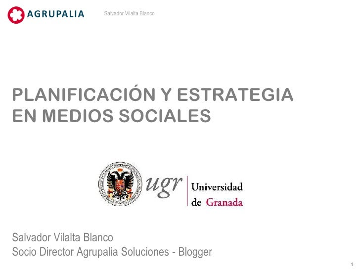 Planificación y estrategia en medios sociales