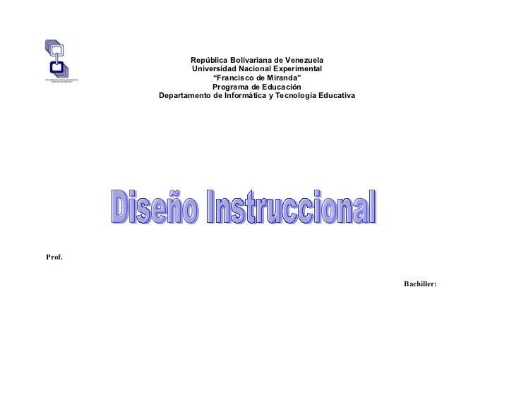 """República Bolivariana de Venezuela                Universidad Nacional Experimental                     """"Francisco de Mira..."""