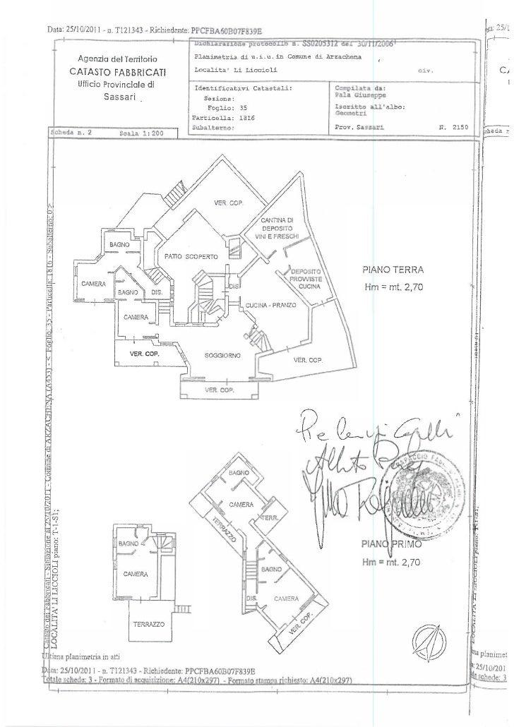 Planimetria della villa di Perego e Formigoni