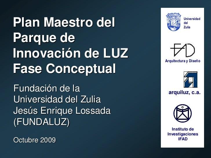Plan Maestro del Parque de Innovación de LUZ