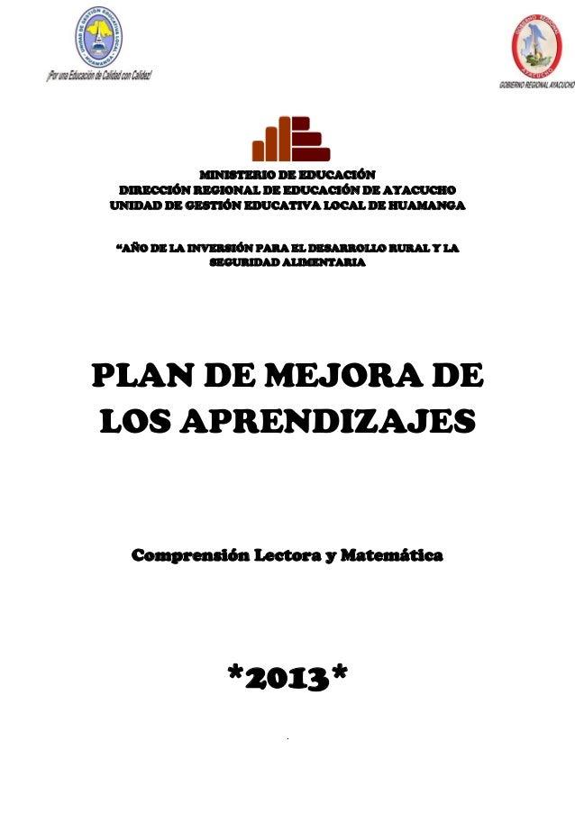 Plan mejora aprendizajes_2013