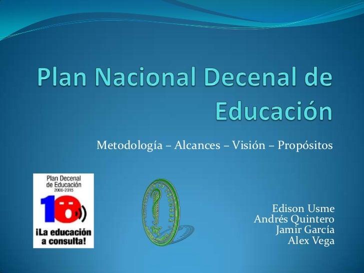 Plan nacional decenal de educación