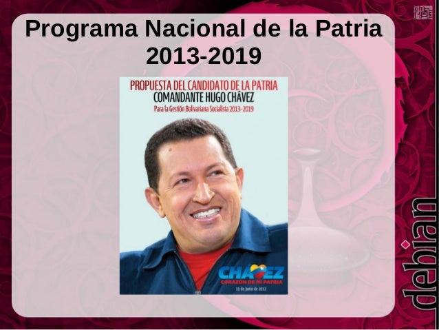 Programa Nacional de la Patria 2013-2019