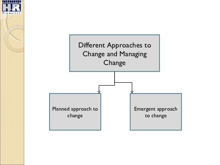 planned versus emergent change International journal of operations & production management emergent change and planned change – competitors or allies: the case of xyz construction.