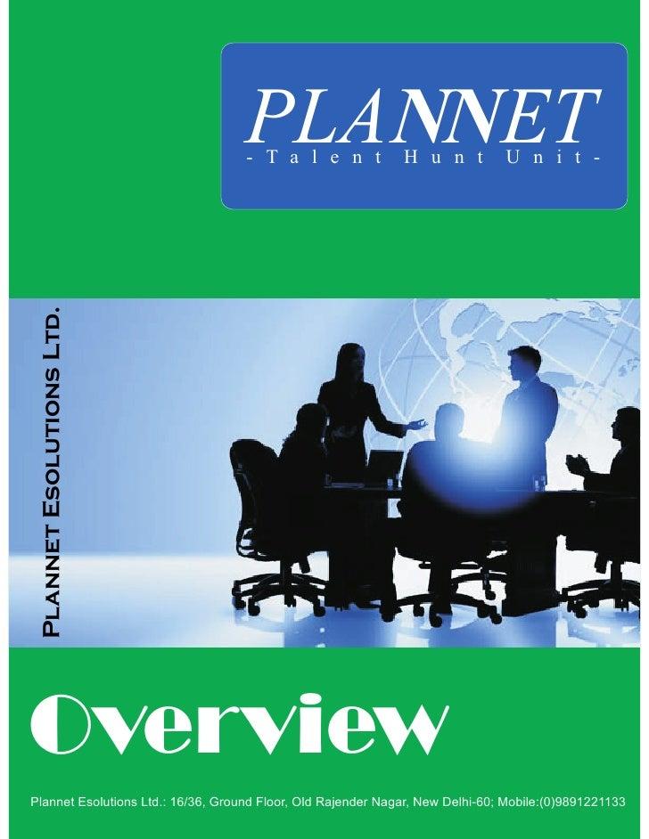PLANNET                                     - T a l e n t             H u n t          U n i t -  Plannet Esolutions Ltd. ...