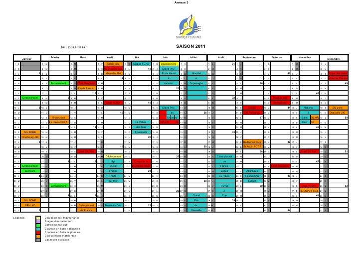 Planning coureurs dunkerque plaisance 2011