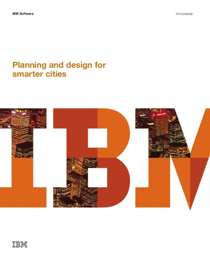 Planning and design for smarter cities