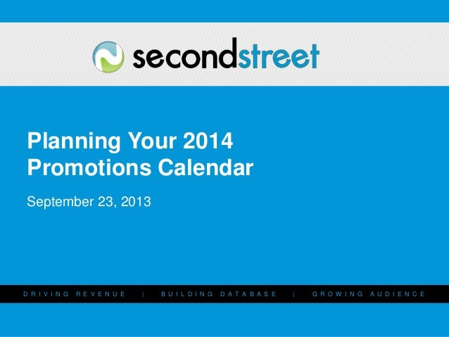 Planning Your Revenue-Generating Promotions Strategy for the Year