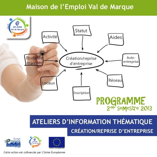 Statut Activité Locaux Réseau Création/reprise d'entreprise Etude de marchés Auto- entreprise Inscription Aides PROGRAMME ...