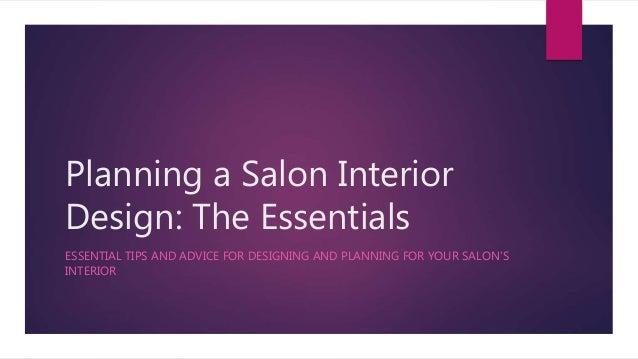 Planning A Salon Interior Design