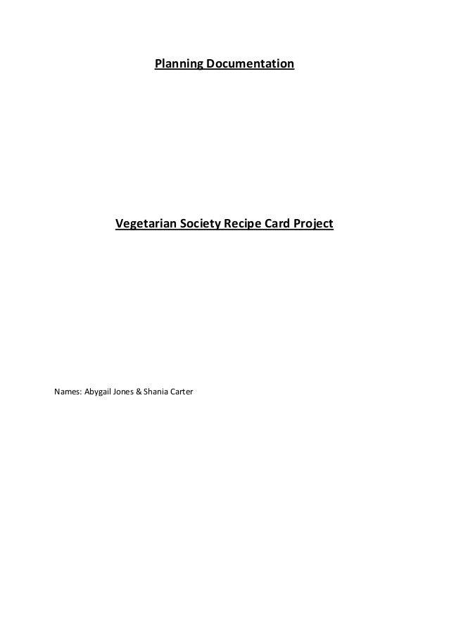 Recipe Cards Task 8