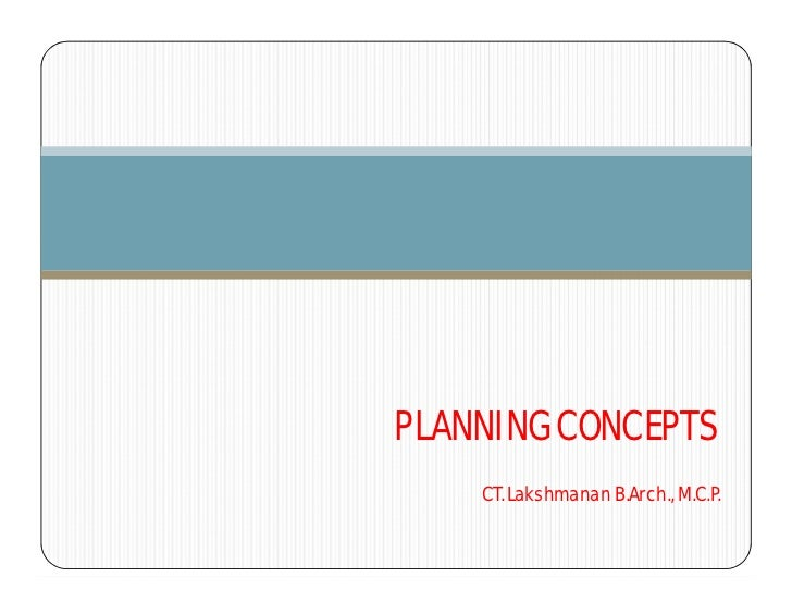 Urban Planning Concepts Planning Concepts ct