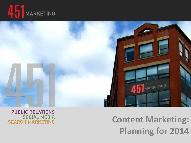 Content Marketing: Planning for 2014