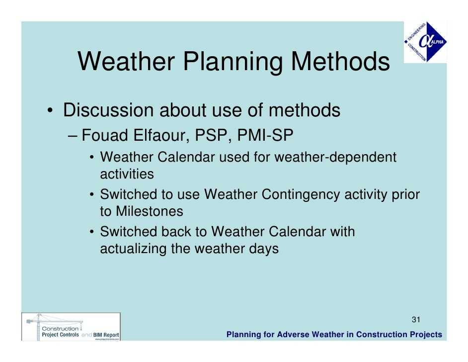 Inclement weather plan for business