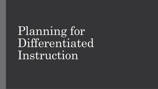 differentiated instruction technology tools