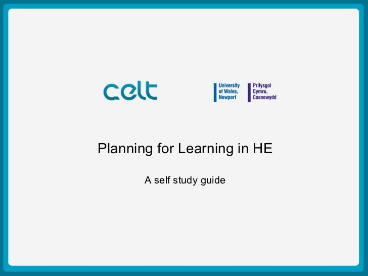 Presentation Title Example   Planning for Learning in HE         Author: Simon Haslett              15th October 2009     ...