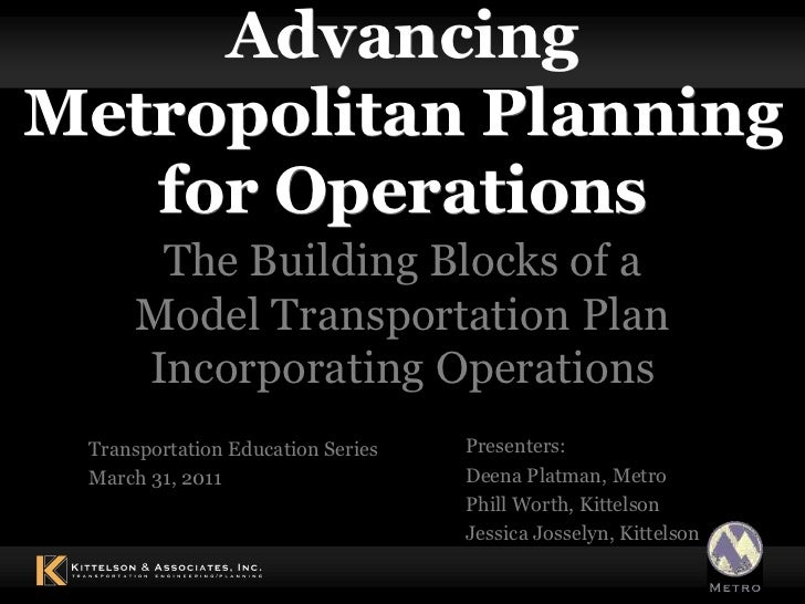 Planning for operations 3-31-2011