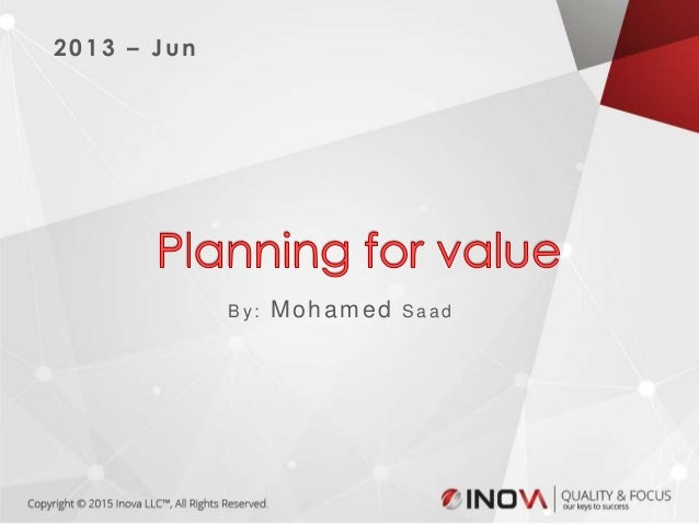 Agile Planning for value