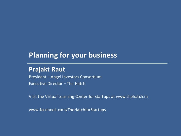Planning for your business   - workshop for Fleximoms - May 2012 - mdi