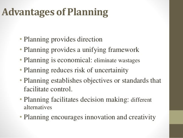 planning facilitates management by objectives But truly management is the process of planning, organising, staffing, directing,   this definition brings in two elements namely accomplishment of objectives, and   action and facilitates changes in order to accomplish an organization's goals.