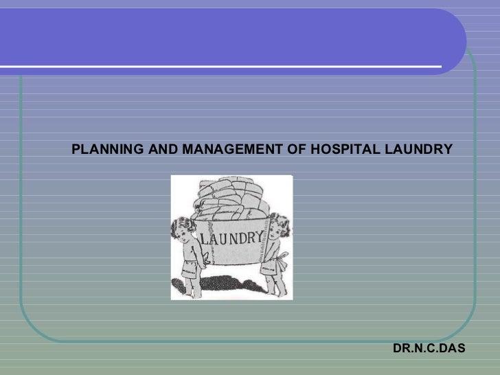 Planning & Manag. of Hospital Laundry