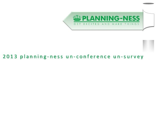 Planningness survey results