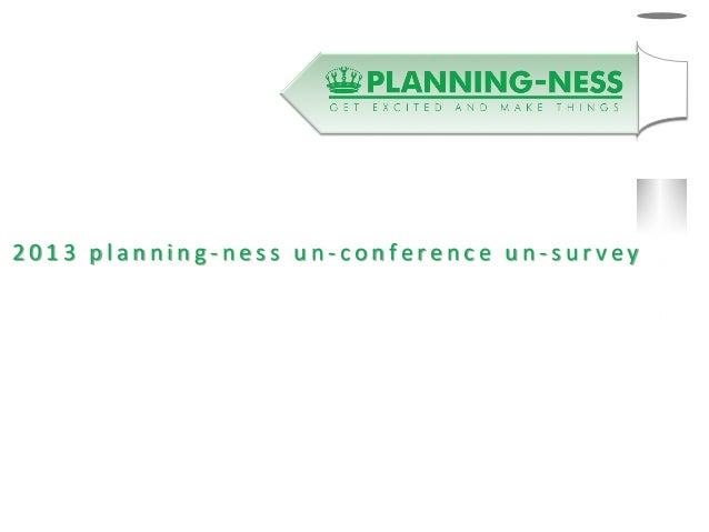 Planningness survey results