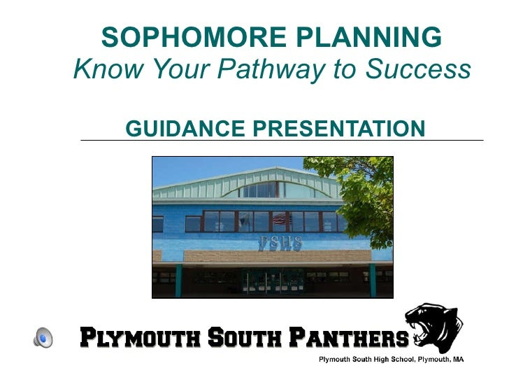 SOPHOMORE PLANNING   Know Your Pathway to Success  GUIDANCE PRESENTATION