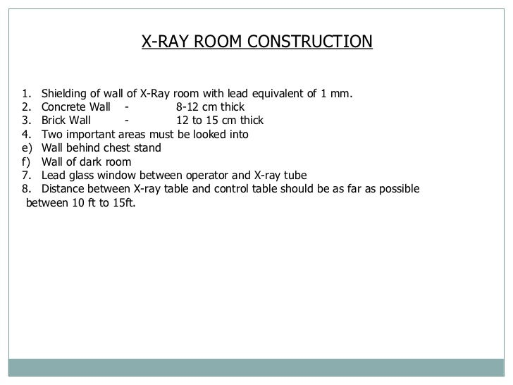 Planning services for X ray room floor plan