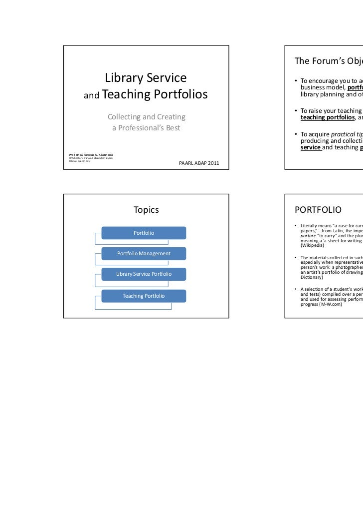 Planning portfolios