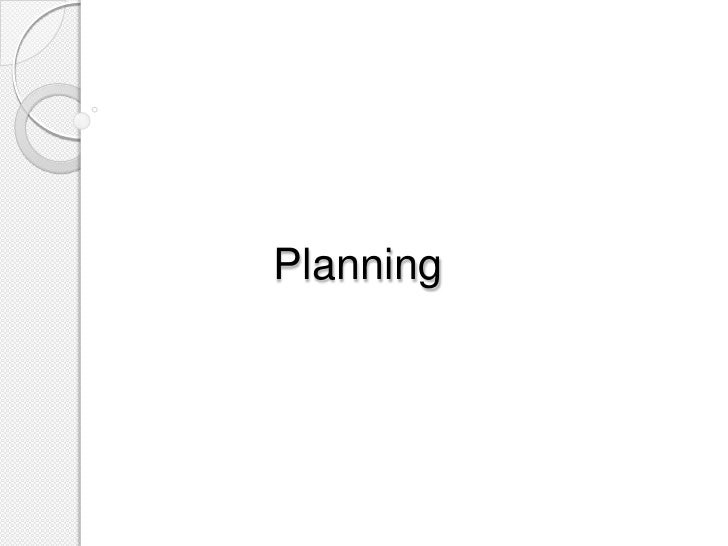 Planning powerpoint