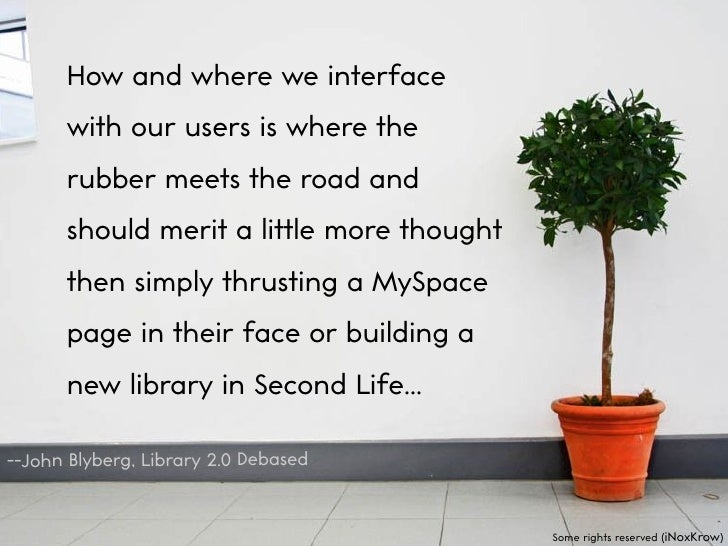 How and where we interface       with our users is where the       rubber meets the road and       should merit a little m...