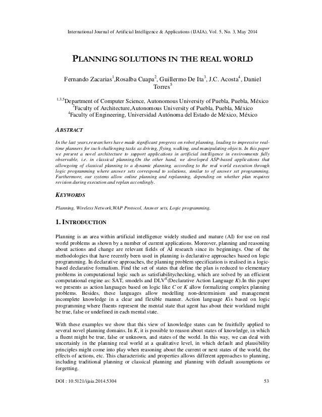 International Journal of Artificial Intelligence & Applications (IJAIA), Vol. 5, No. 3, May 2014 DOI : 10.5121/ijaia.2014....