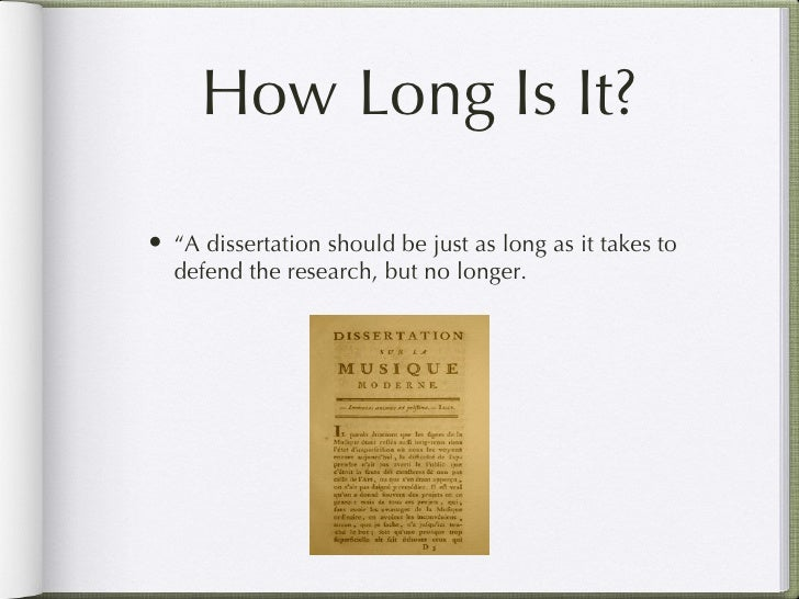 Phd thesis how long
