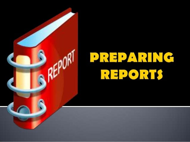      A report is the formal writing up of a project or a research investigation A report has clearly defined sections p...