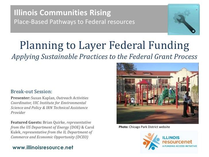 Planning to Layer Federal Funding