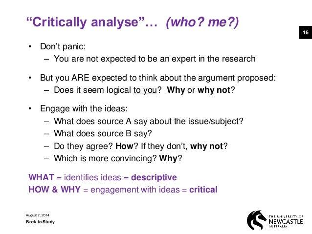 essay writing critically analyse