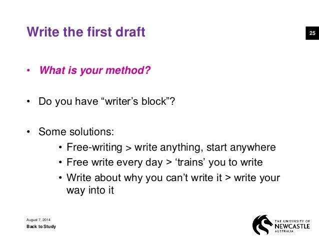 essays writers block