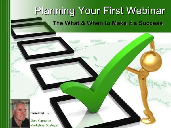 Planning Your First Webinar 04 2010