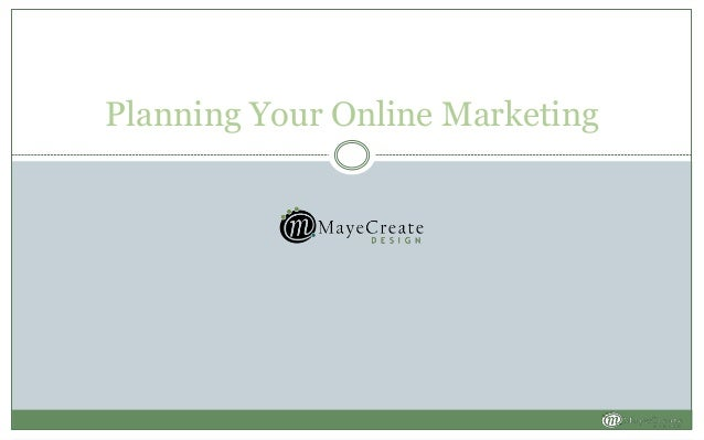 Planning Your Online Marketing