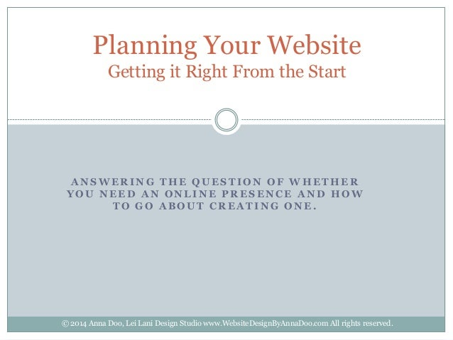 Planning Your Website: Getting it Right From the Start (by Anna Doo)