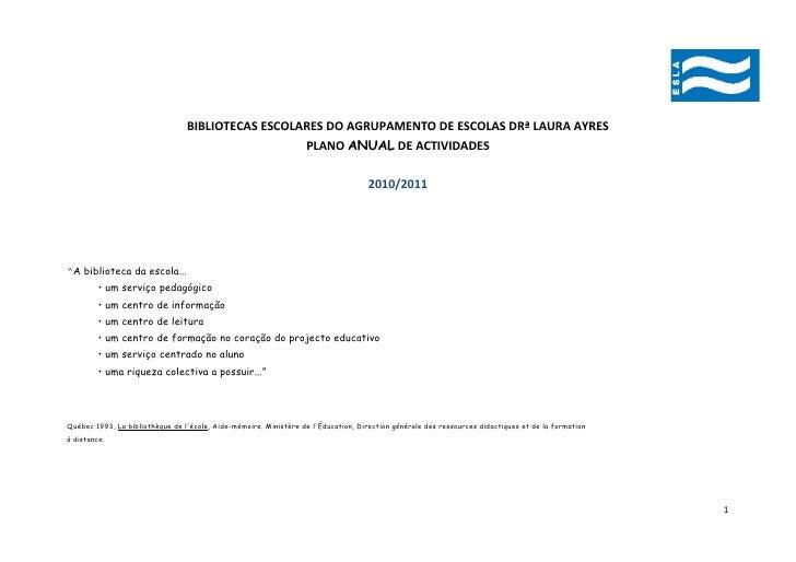 BIBLIOTECAS ESCOLARES DO AGRUPAMENTO DE ESCOLAS DRª LAURA AYRES                                                           ...