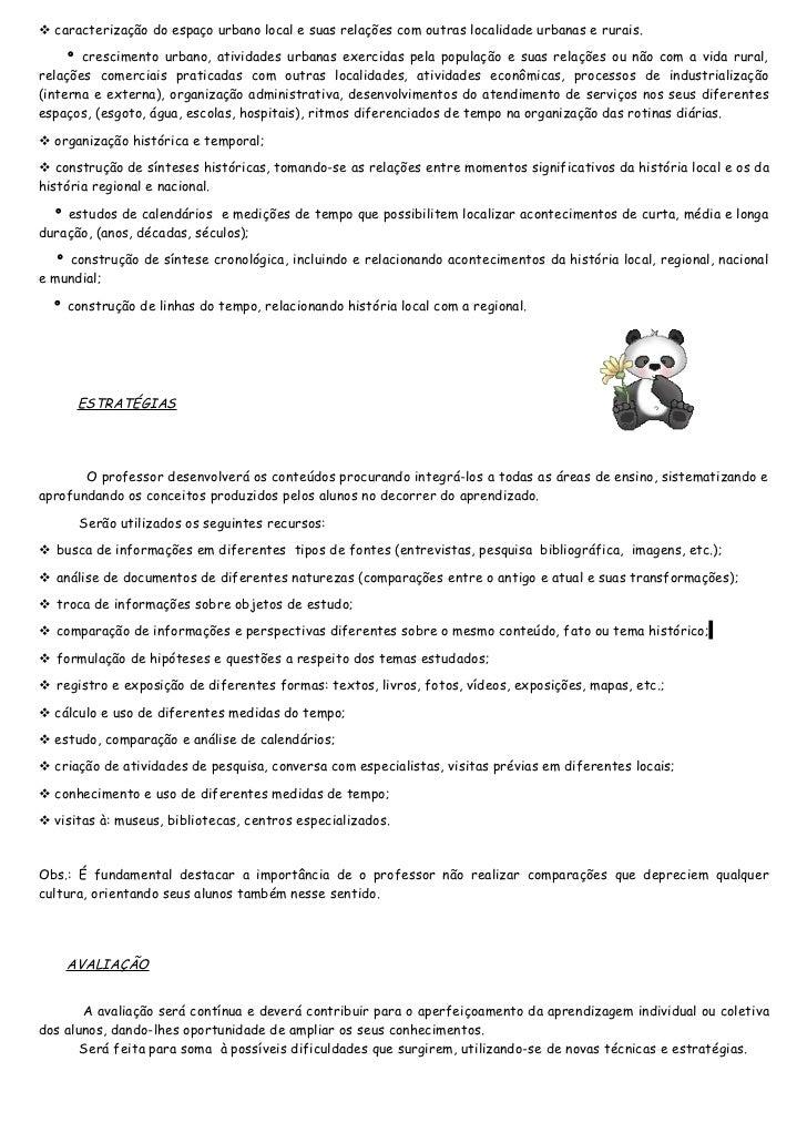 Plano de ensino 4º Ano (antiga 3ª série)