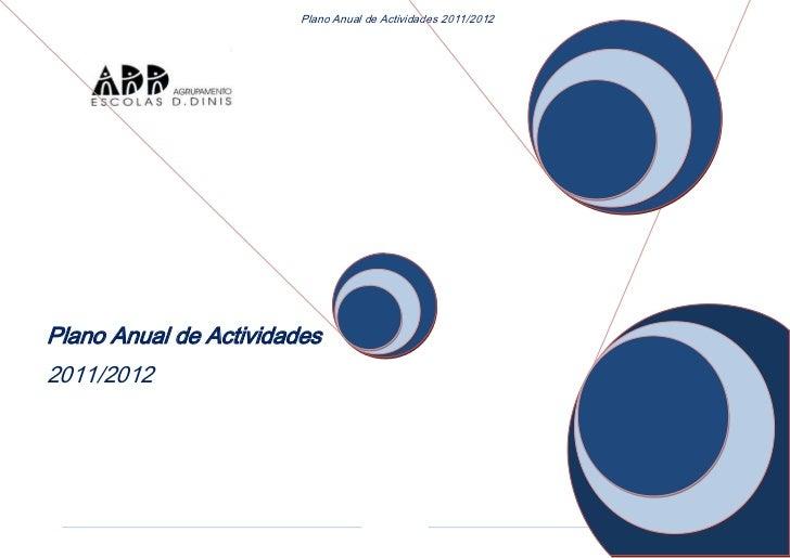 Plano anual de actividades2011 12