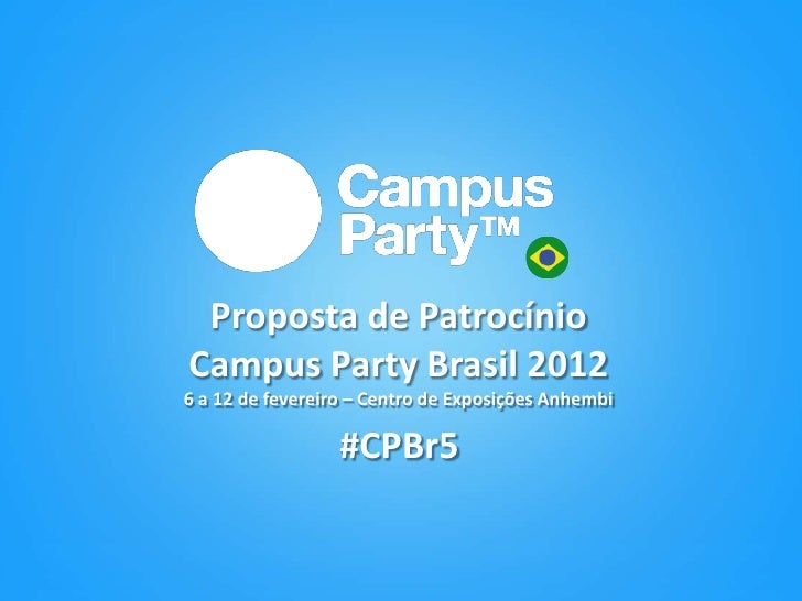 Plano Comercial Campus Party 2012