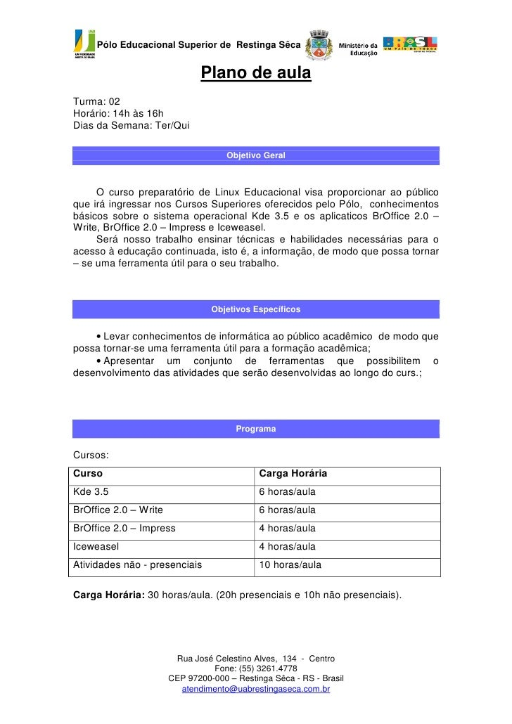 Plano de aula   t02